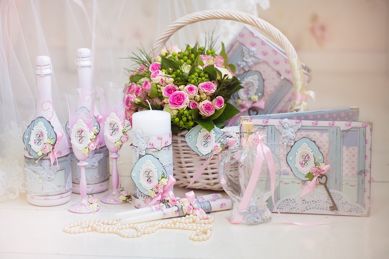 Wedding Accessories For The Morning Of The Bride In Pink . Weddi